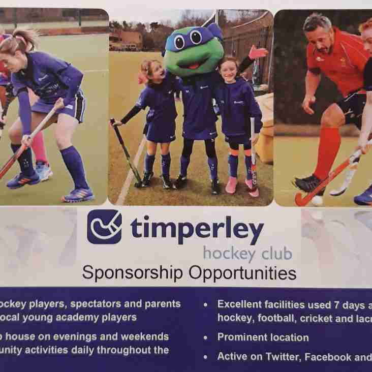 Sponsorship and supporter opportunities - make a difference to THC from £50