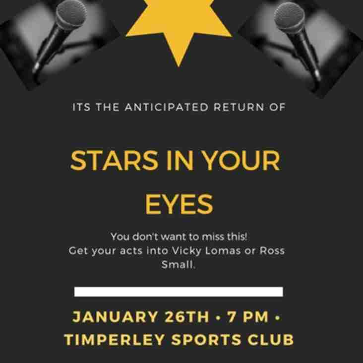 THC's very own 'Stars in Your Eyes' is back - Saturday 26th January 2019 7pm