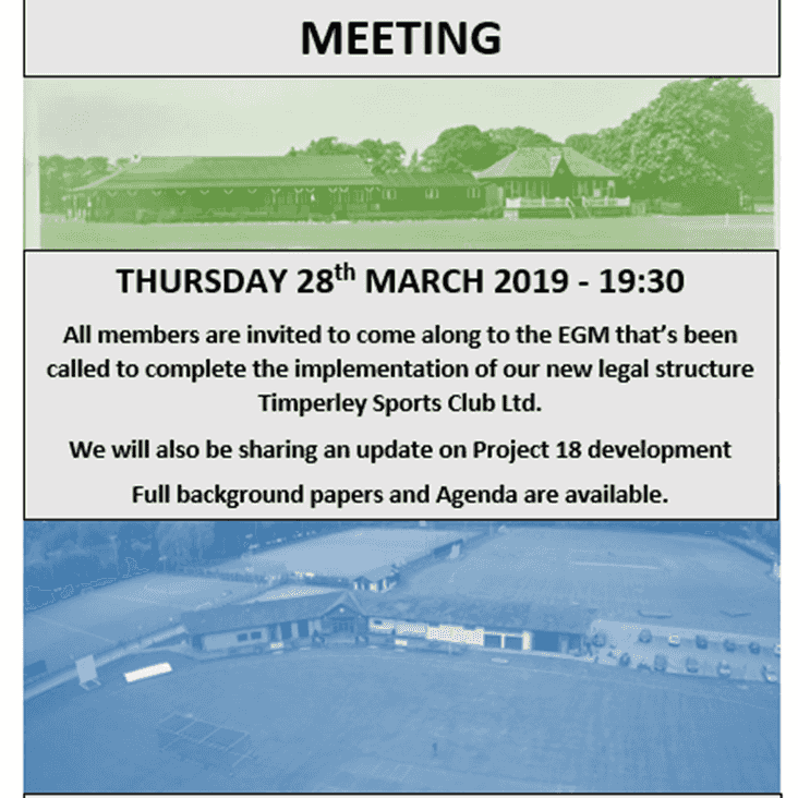 Countdown to the TSC EGM - Thursday 28th March 7.30pm