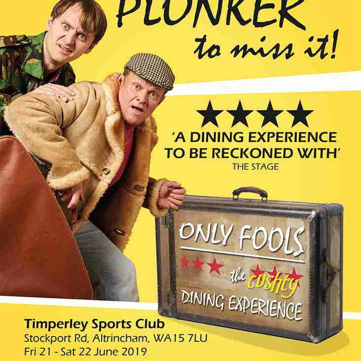 'Only Fools, The (cushty) Dining Experience' comes to Timperley 21st &  22nd June 2019