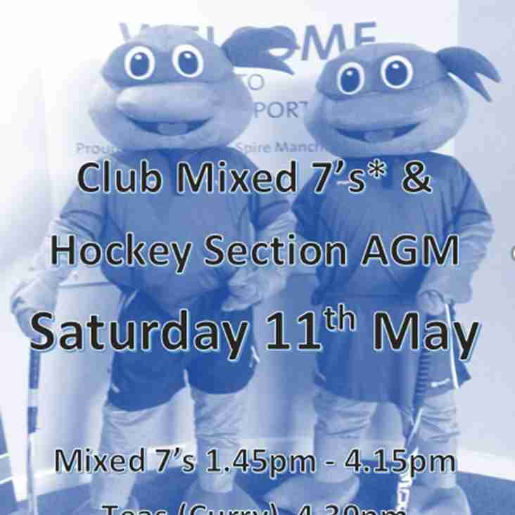 Join us for our End of Season weekend (11th & 12th May 2019) for hockey, AGM & Academy Presentations too !