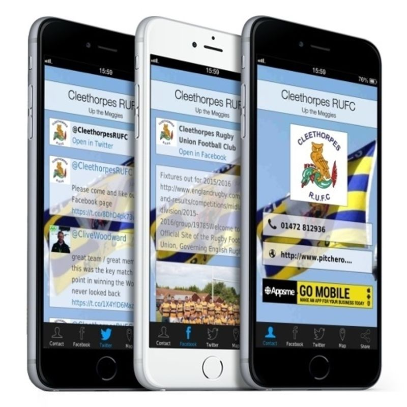 Check out the new Cleethorpes RUFC app for your phone