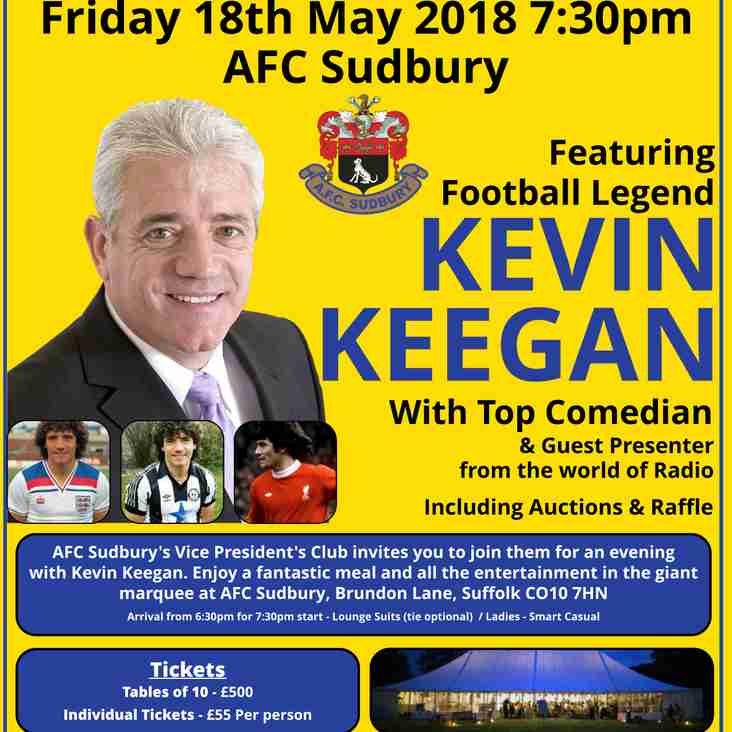 Sporting Dinner With Kevin Keegan