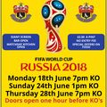 REMINDER  - England World Cup On Giant Screen At AFC