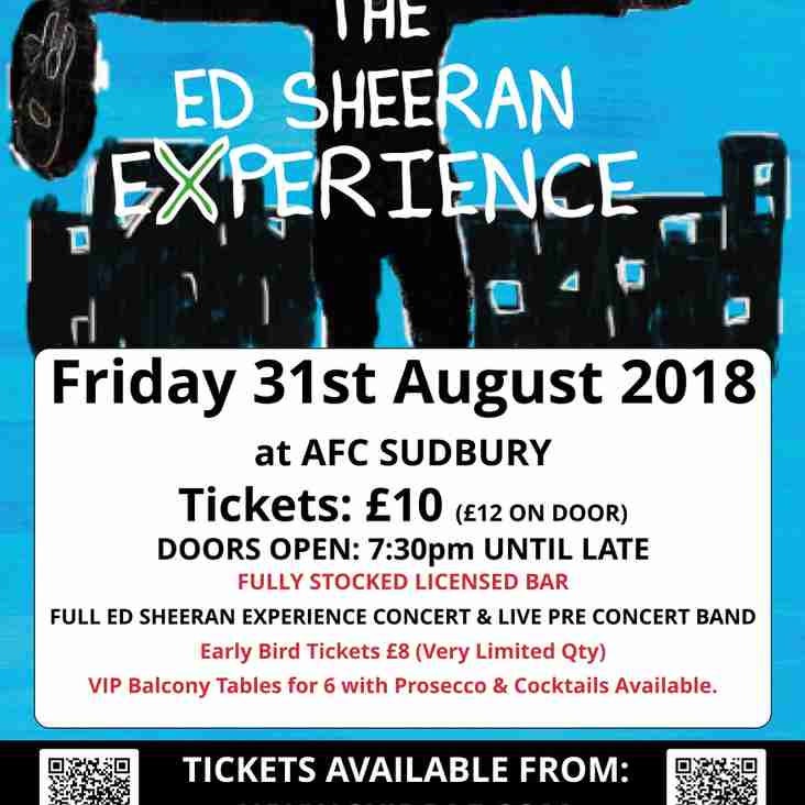The Ed Sheeran Experience to perform at AFC