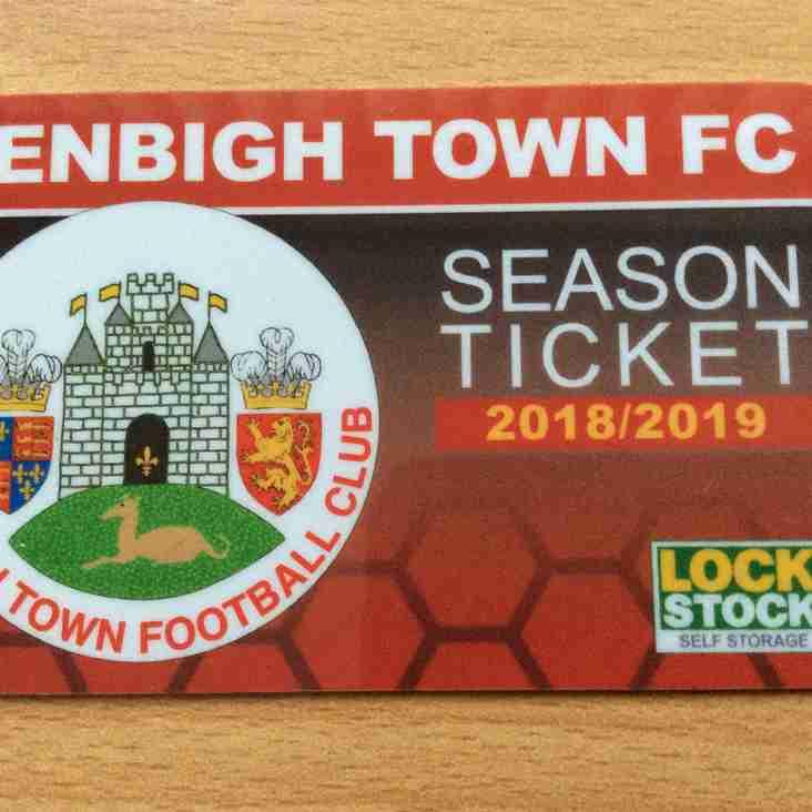 Season Tickets 2018/2019.