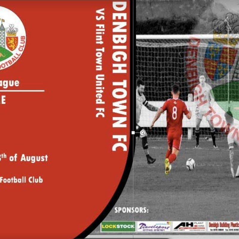 Match Preview - Denbigh Town v Flint Town Utd  - Sat 18th Aug -2.30pm k.o