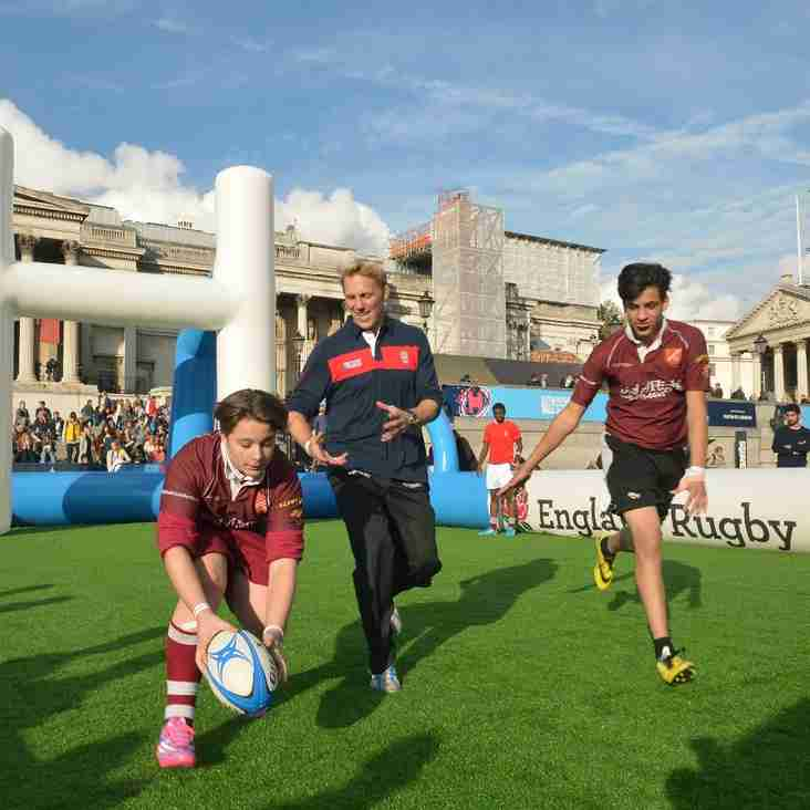 SCRFC Youngsters feature at RWC2015 Trafalgar Square Fanzone