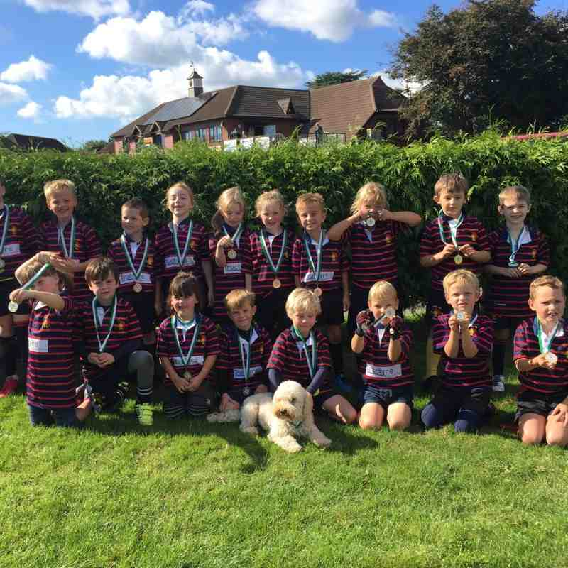 The Under 7 team at New Milton