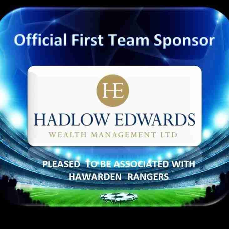 Hadlow Edwards Sponsorship deal secured.