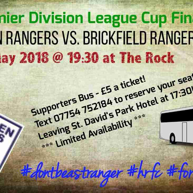WELSH NATIONAL LEAGUE  PREMIER DIVISION CUP FINAL LATEST NEWS HAWARDEN v BRICKFIELD