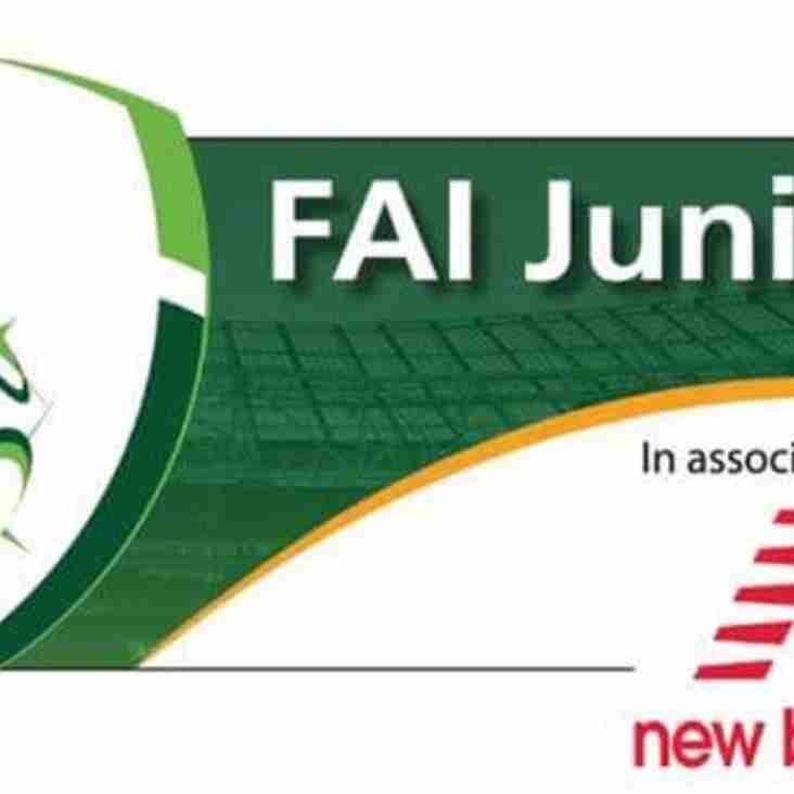 FAI NEW BALANCE JUNIOR CUP ROUND 3 DRAW