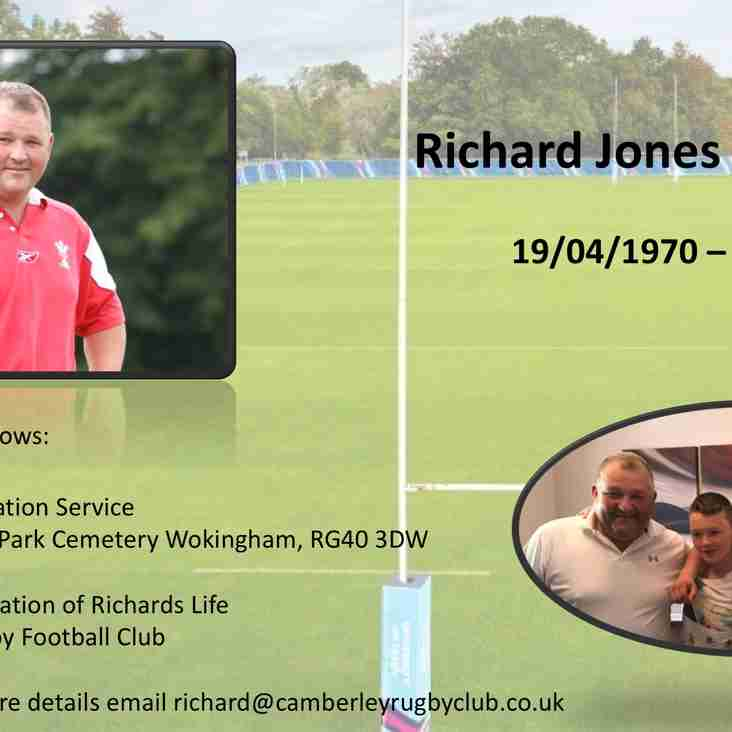 Funeral Arrangements for Richard Jones