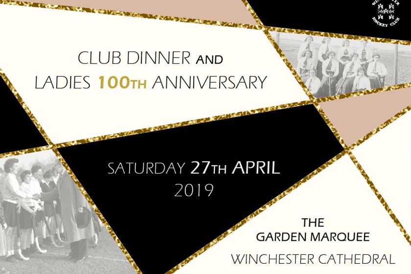 Club dinner and ladies 100th anniversary - Tickets on sale now!