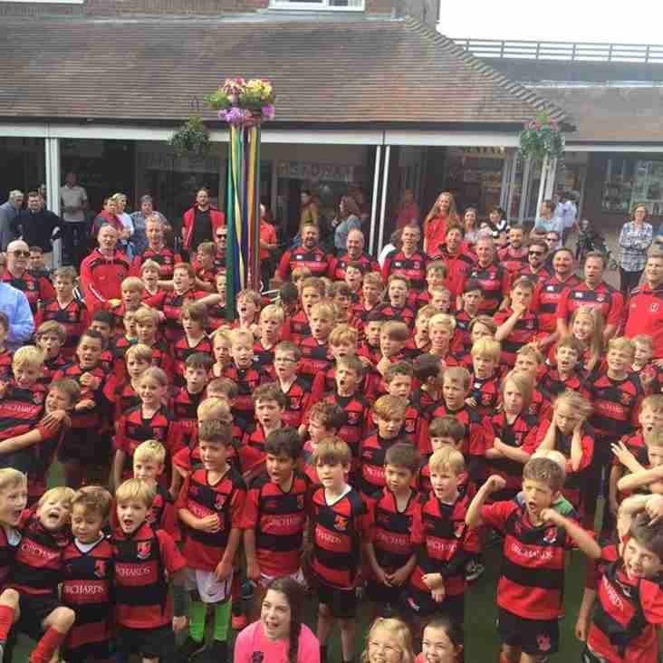 Minis out in force showing strength of junior rugby at Heath