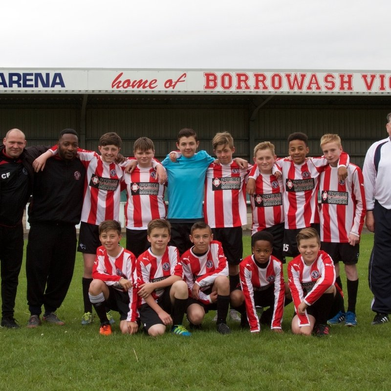 Borrowash Victoria U14 Sat lose to UTTOXETER JUNIORS 7 - 0