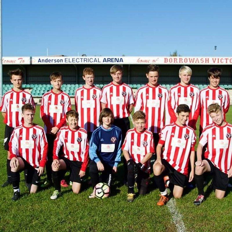 Borrowash Victoria U15 beat SPONDON ROVERS 1 - 6