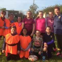 Well the girls braved the weather and played brilliantly.