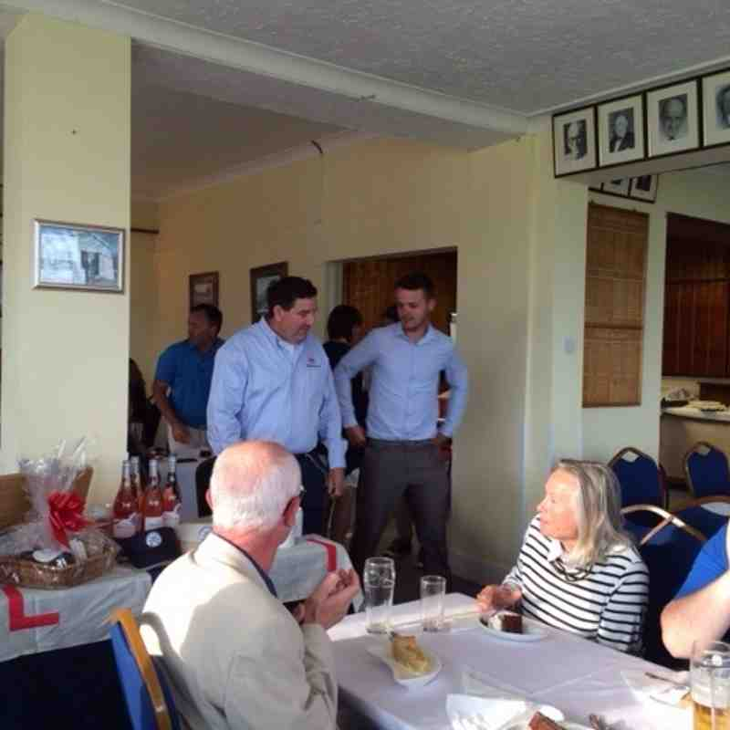 Tom Morris receiving a well earned prize