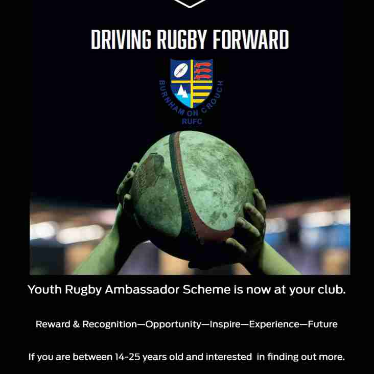 Youth Ambassador Scheme hits Burnham Rugby Club!