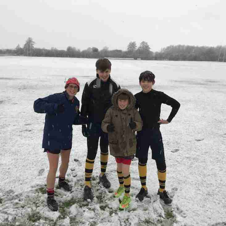 Burnham will not be stopped for a bit of snow!