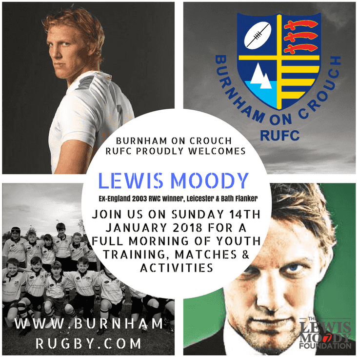 Former England player LEWIS MOODY is coming to Burnham!!!!