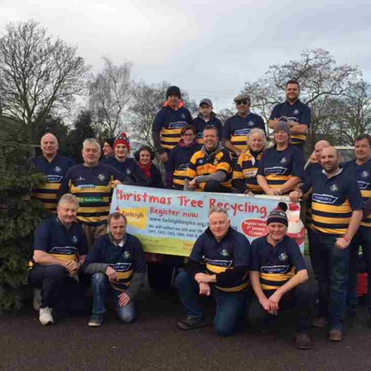 Club will be supporting the annual Farleigh Hospice Christmas Tree collection!