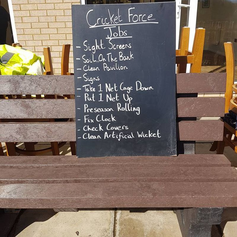 Geddington Cricket Club CricketForce Day 25th March 2017 Pictures: