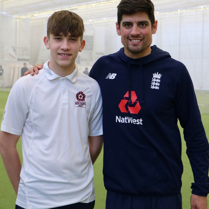Northamptonshire Youngsters Spend A Day With England Cricketer Alistair Cook.<