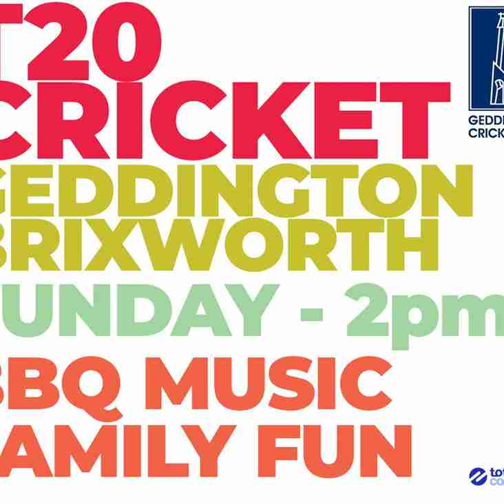 Northamptonshire Cricket League T20 Championship Starts This Sunday For Geddington