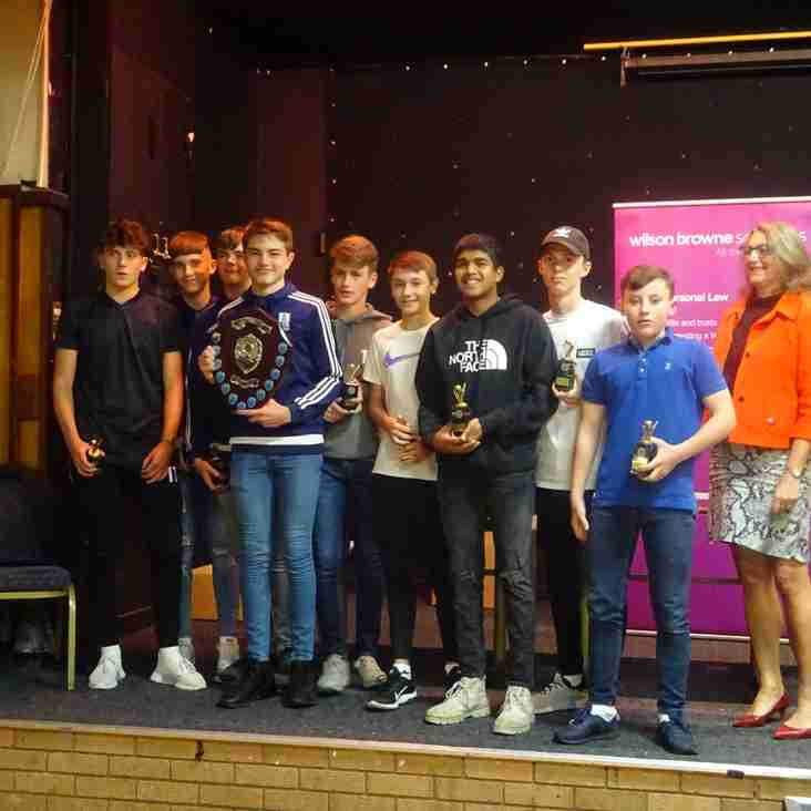 Corby & District Youth Cricket League Presentation Night - Thursday 4th October 2018.