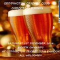 Geddington Cricket Club Christmas Drinks - Saturday 1st December 2018