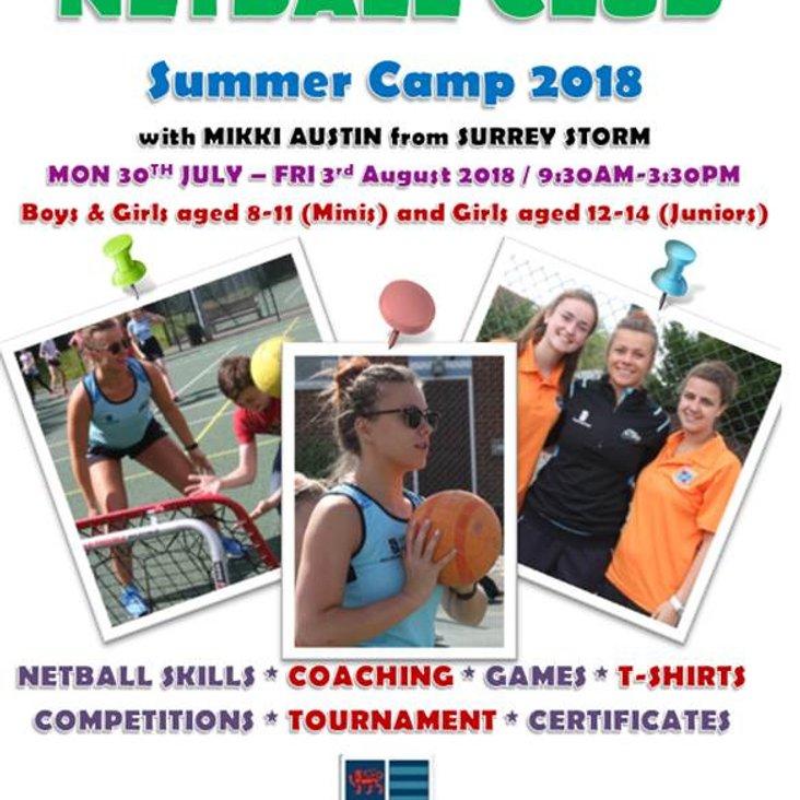 Summer Camp 2018 with Mikki Austin from Surrey Storm<
