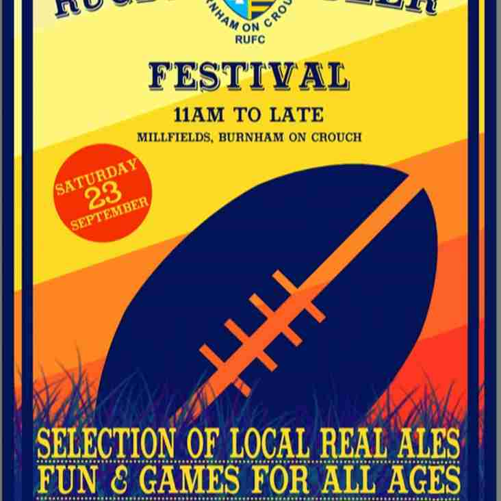 Rugby Beer Festival on 23rd September 2017