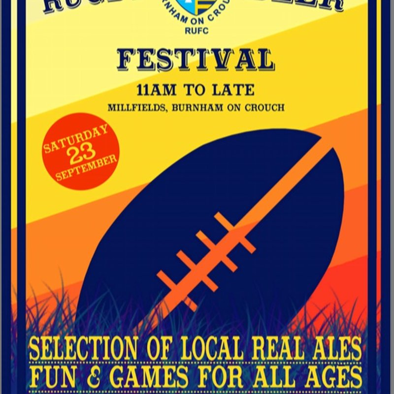 Rugby Beer Festival on 23rd September 2017