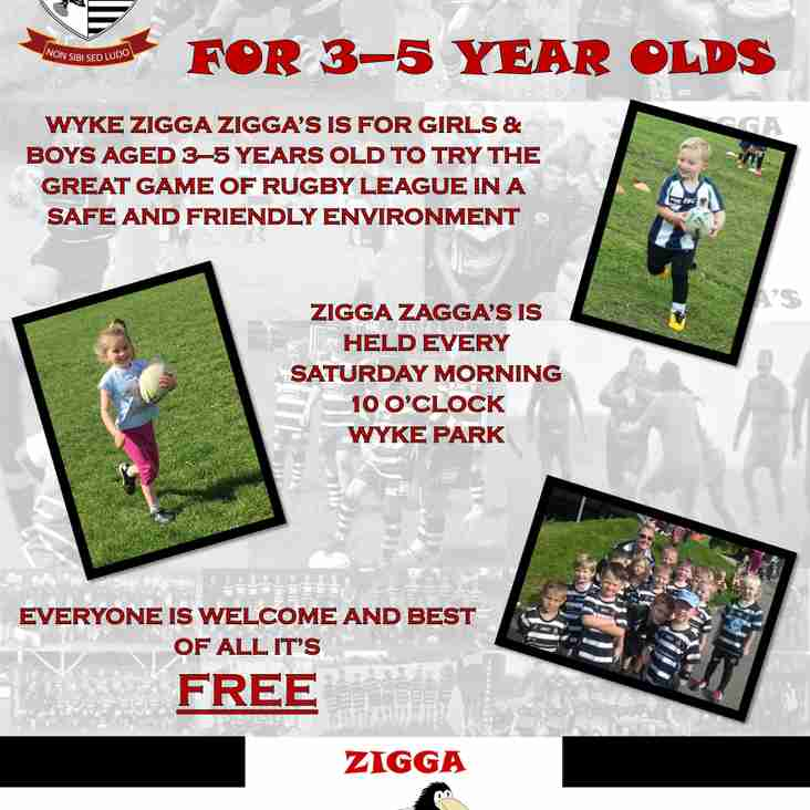 Wyke A.R.L.F.C. Rugby Tot's starts this Saturday morning