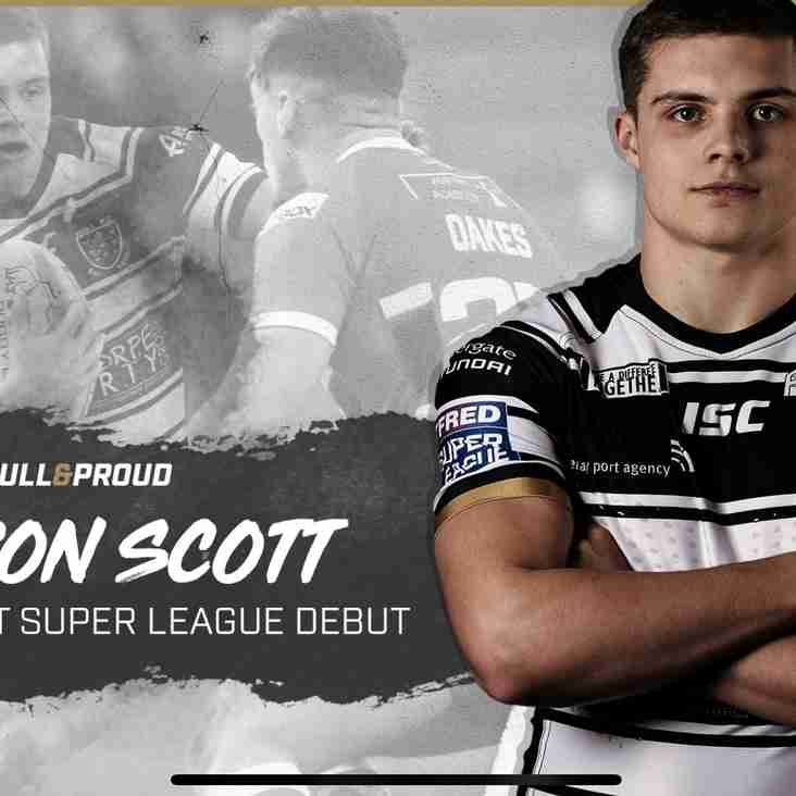Cameron Scott Makes Super League Debut