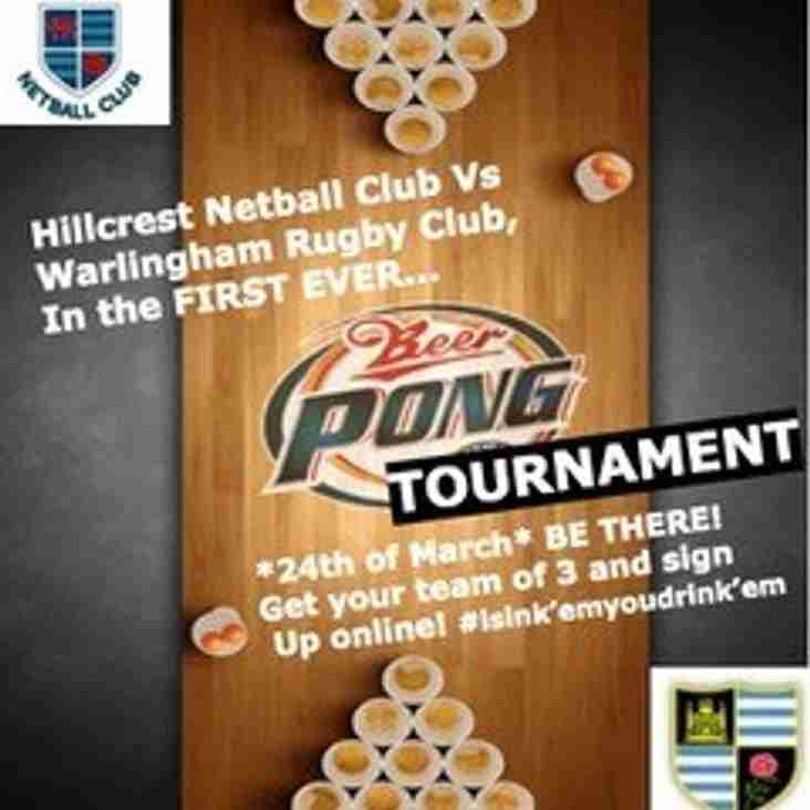 Hillcrest v Warlingham  Beer Pong Challenge 24th March 2018