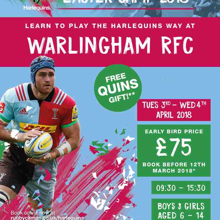 Quins Easter Camp