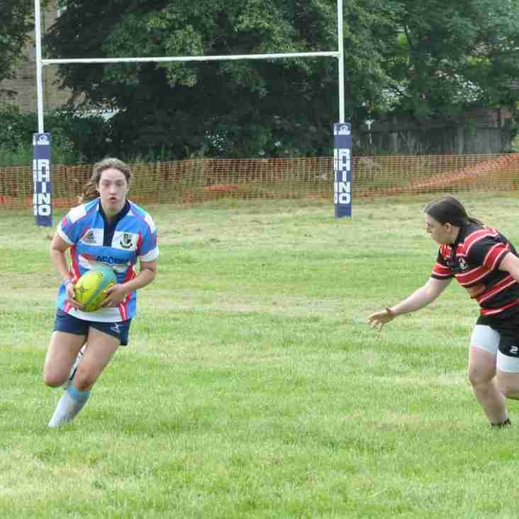 Wildcat plays in Womens premiership Rugby match