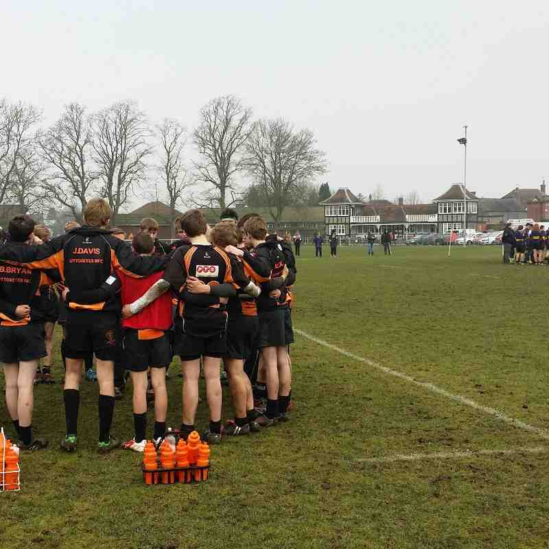 Uttoxeter RFC Under 16's v Cannock - 15th February 2015