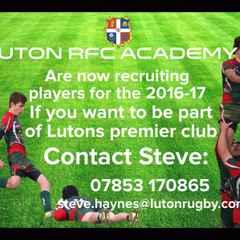 Luton RFC Academy Player Recruitment