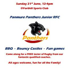 Panmure Panthers Fun Day!  21st of June!