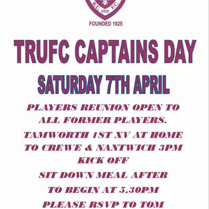 Captains Day Saturday 7th April