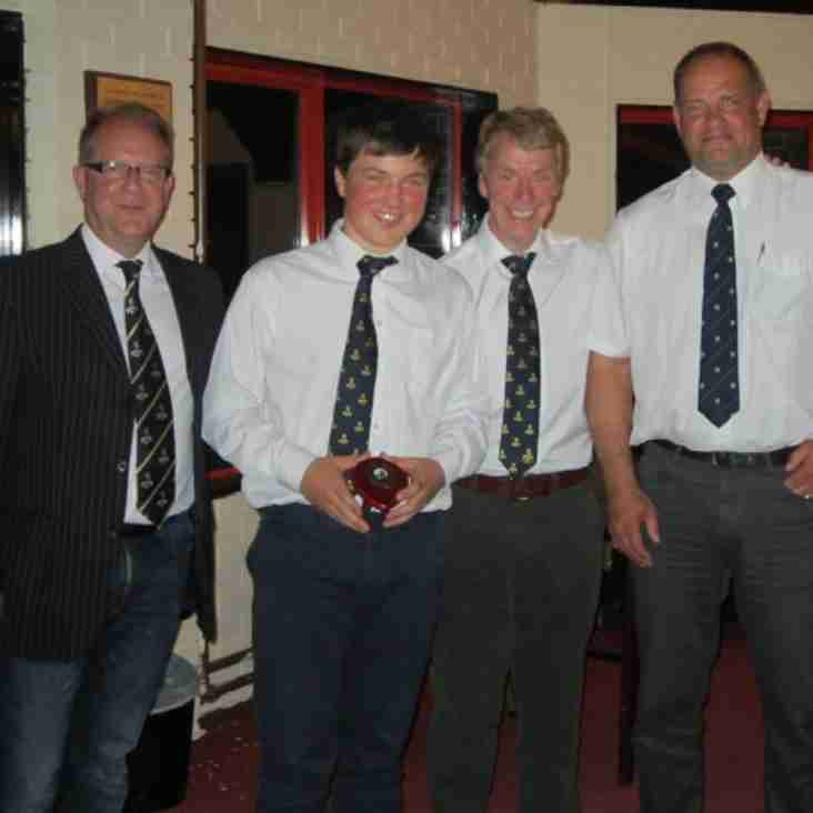 The U16's awards dinner