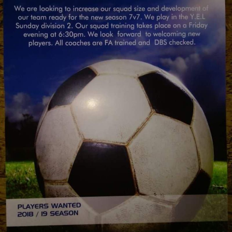 U9 players needed