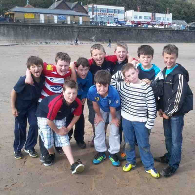 U13s after match team fun @ Filey 17.9.11