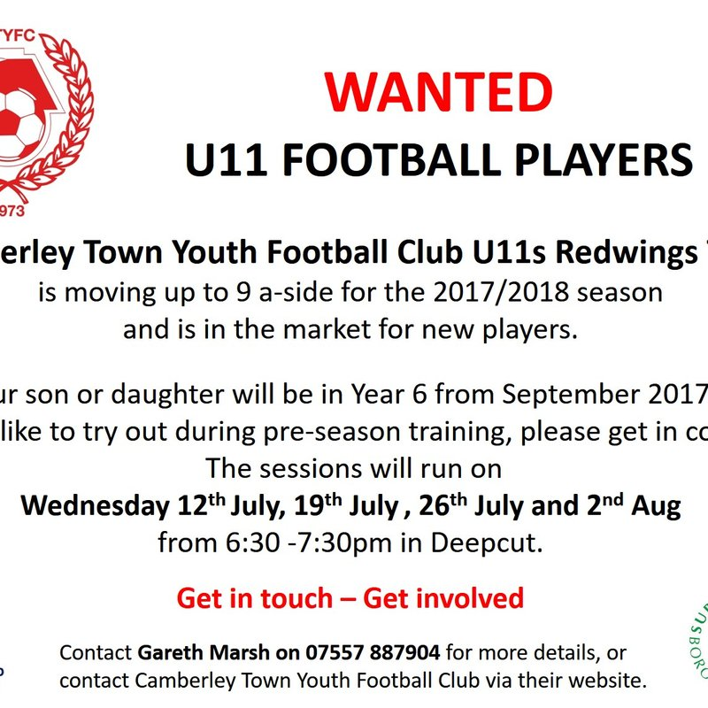 Players Wanted (Next Season's U11)