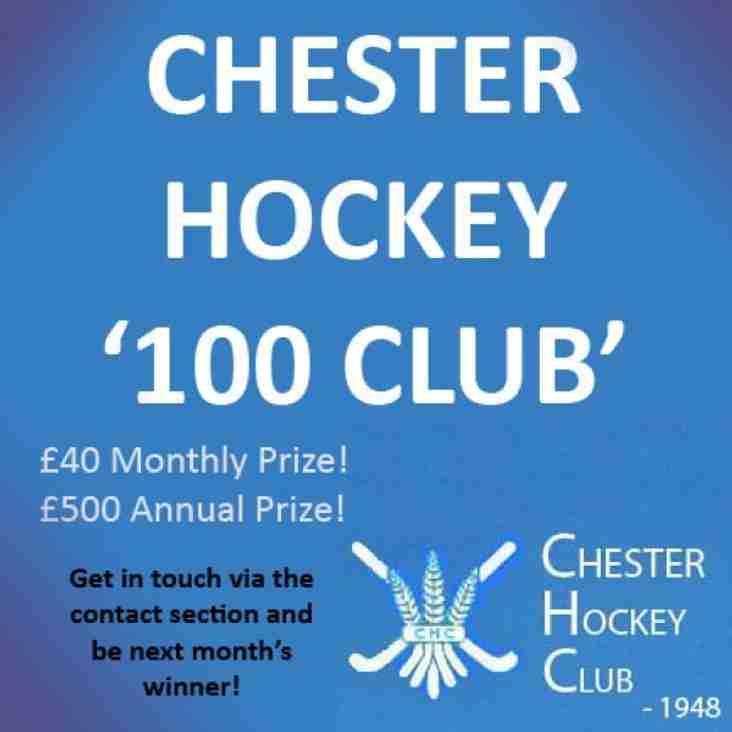 Chester Hockey Club - 100 Club - Latest Winners