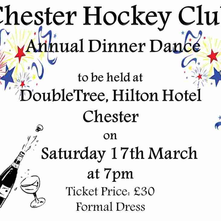 Chester Hockey Club Dinner Dance - Saturday 17th March 2018
